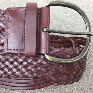 Genuine Bonded Leather Brown Boho Belt